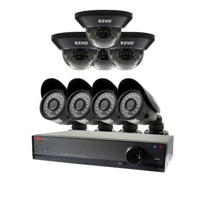 Lite 16-Channel 2TB 960H DVR Surveillance System with (8) 700TVL Cameras