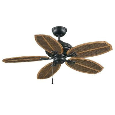 Palm Beach II 48 in. Natural Iron Outdoor Ceiling Fan