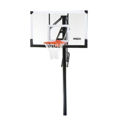 54 in. Tempered Glass Power Lift In-Ground Basketball System