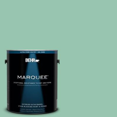 1-gal. #M420-4 Jade Mountain Satin Enamel Exterior Paint