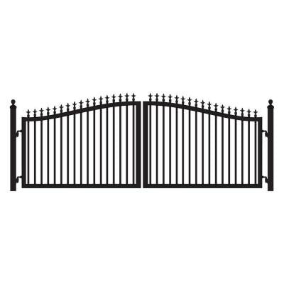 St. Augustine 12 ft. x 5 ft. Powder Coated Steel Dual Driveway Fence Gate