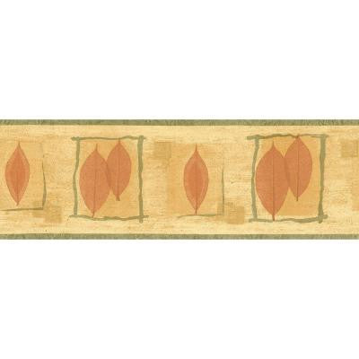 6.83 in. x 15 ft. Orange and Green Transitional Leaf Border