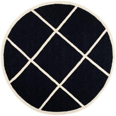 Cambridge Black/Ivory 6 ft. Round Area Rug