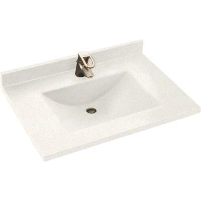 Contour 37 in. W x 22 in. D x 10-1/4 in. H Solid-Surface Vanity Top in Tahiti White with Tahiti White Basin