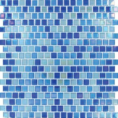 Dark Blue 12 in. x 12 in. x 4 mm Glass Mesh-Mounted Mosaic Wall Tile (20 sq. ft. / case)