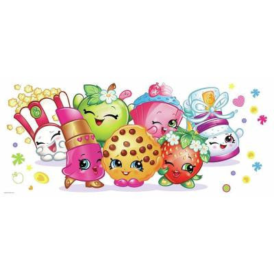 5 in. W x 19 in. H Shopkins Pals Peel and Stick Giant Wall Graphic