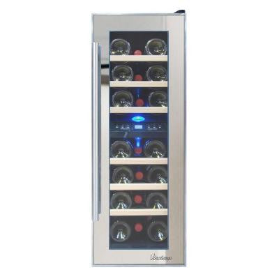 11.875 in. 21-Bottle Dual Zone Thermoelectric Mirrored Wine Cooler