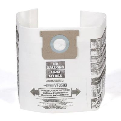 High-Efficiency Dust Bags for 6 Gal. + 9 Gal. Vacuums