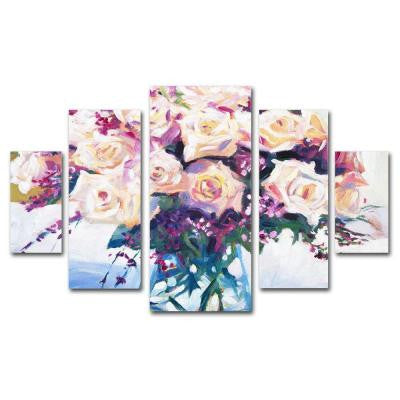 Roses in Glass by David Lloyd Glover 5-Panel Wall Art Set