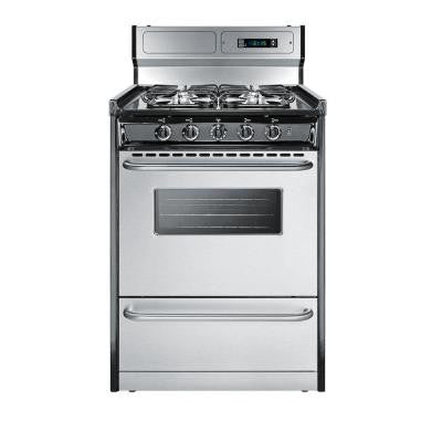 24 in. 2.92 cu. ft. Gas Range in Stainless Steel