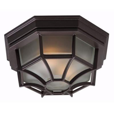 Dural 2-Light Bronze Flushmount