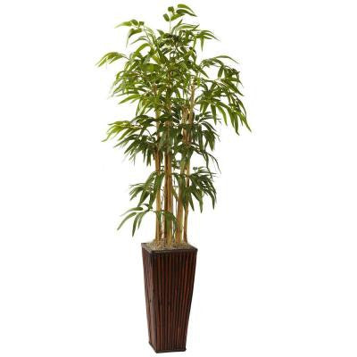 4 ft. Bamboo with Decorative planter
