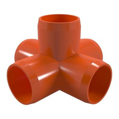 1-1/4 in. Furniture Grade PVC 5-Way Cross in Orange (4-Pack)