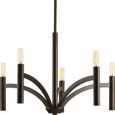 Draper Collection 5-Light Antique Bronze Chandelier