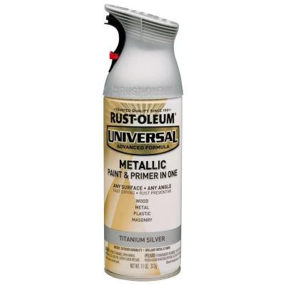 11 oz. All Surface Metallic Titanium Silver Spray Paint and Primer in One