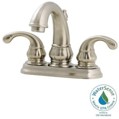 Treviso 4 in. Centerset 2-Handle High-Arc Bathroom Faucet in Brushed Nickel