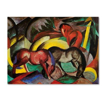 18 in. x 24 in. Three Horses Canvas Art