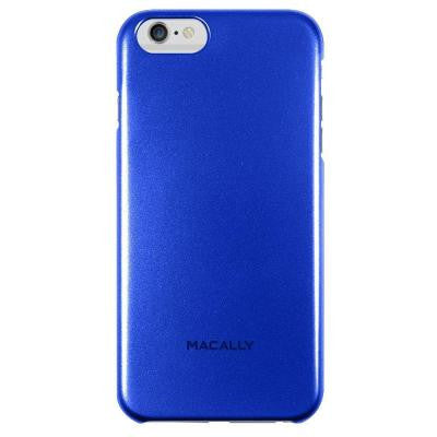 Metallic Snap-On Case Designed for iPhone 6 Plus - Blue