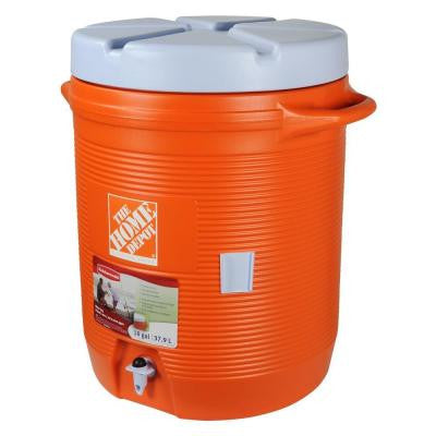10 Gal. Orange Water Cooler