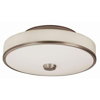 Orly 2-Light Satin Nickel Semi-Flush Mount