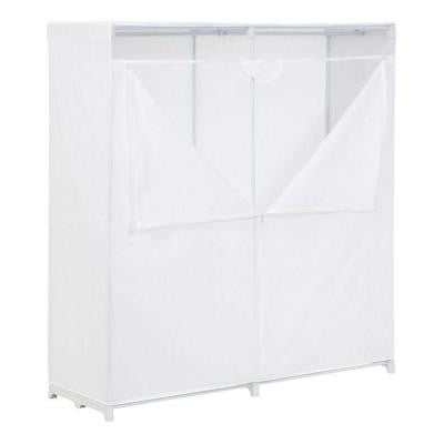 60 in. H x 64 in. W x 20 in. D Portable Closet in White