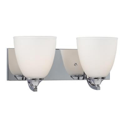 Brook 2-Light Polished Chrome Bath Vanity Light