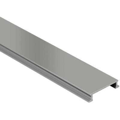 Designline Satin Nickel Anodized Aluminum 1/4 in. x 8 ft. 2-1/2 in. Metal Border Tile Edging Trim