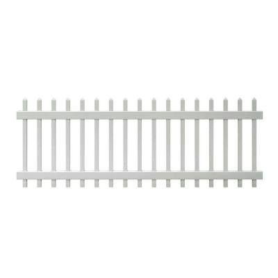 Chelsea 3 ft. x 8 ft. Spaced Picket Vinyl Fence Panel