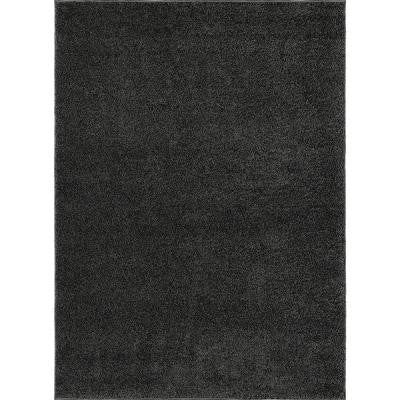 City Shag Gray 5 ft. 3 in. x 7 ft. 3 in. Area Rug