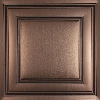 Oxford Faux Bronze 2 ft. x 2 ft. Lay-in Ceiling Panel (Case of 6)