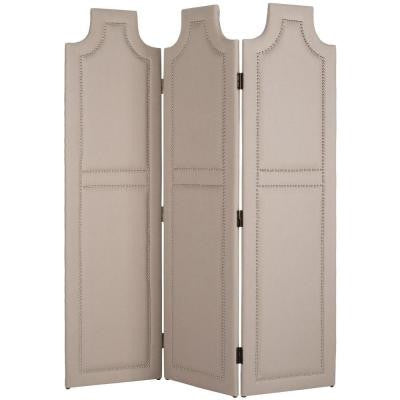 3-Panel Darcy Screen Room Divider in Taupe