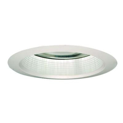 3 in. White Recessed Lighting Shower Trim with Regressed Lens and Clear Reflector