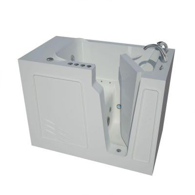4.4 ft. Right Drain Walk-In Whirlpool and Air Bath Tub in White