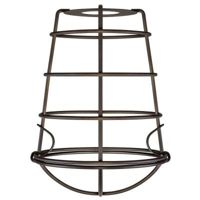 8 in. Industrial Cage Fixture Shade with 2-1/4 in. Fitter and 6 in. W