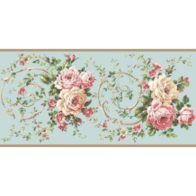 10.25 in. Casabella II Rose Scroll Border