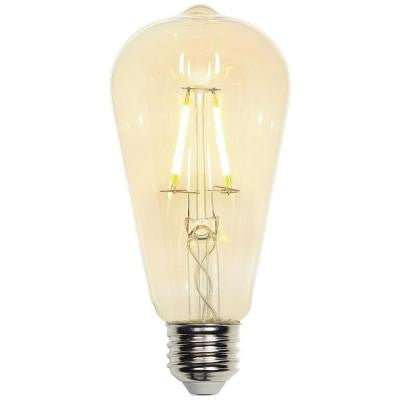 40W Equivalent Soft White Decorative ST20 Medium Base Dimmable Filament LED Light Bulb