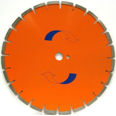 24 in. x .165 in. Cured Concrete Diamond Blade, Soft Bond