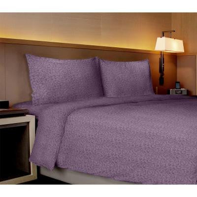 Willow Collection Vines Purple King Sheet Set (4-Piece)