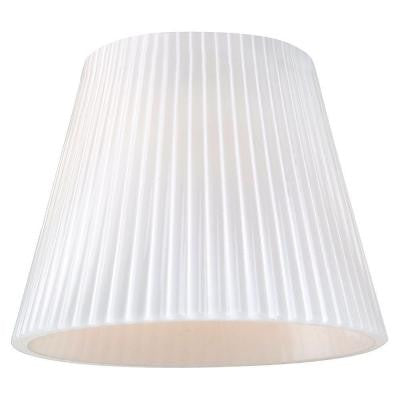 Ambiance Cased Opal Ribbed Glass Directional Shade