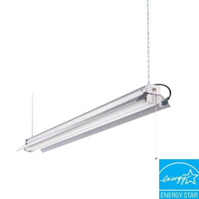 All Season 4 ft. 2-Light Grey T8 Strip Fluorescent Shop Light