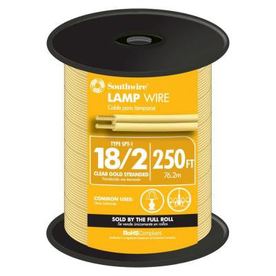250 ft. 18/2 Lamp Wire - Gold