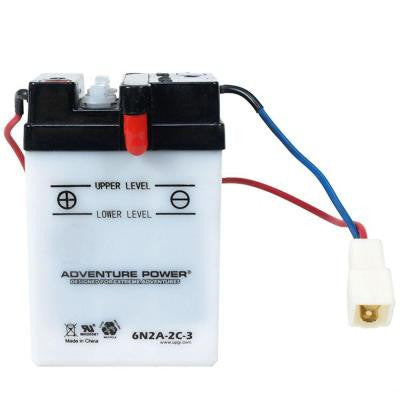 Conventional Wet Pack 6-Volt 2 Ah Capacity W Terminal Battery