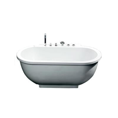6 ft. Whirlpool Tub in White