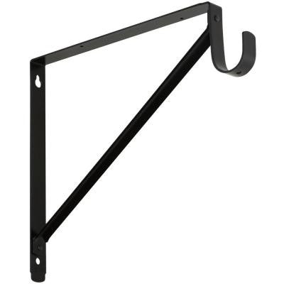 11 in. x 12-5/8 in. Shelf Hanging Rod Bracket in Oil-Rubbed Bronze