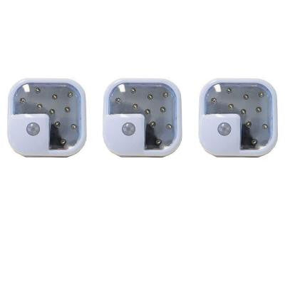 10-LED Wireless Motion Sensor Night Light (3-Pack)