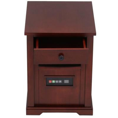 1500-Watt Electric Infrared Quartz Heater with Drawer - Cherry