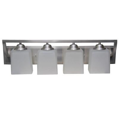 Cankton 4-Light Brushed Nickel Bath Vanity Light