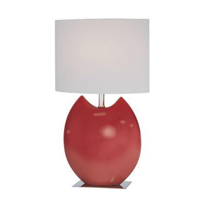Nivea 19.5 in. Red CFL Table Lamp