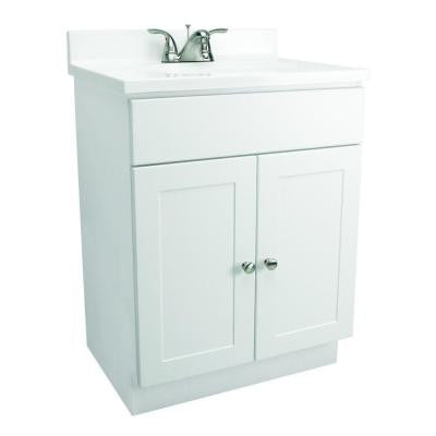 31 in. Vanity in White with Cultured Marble Vanity Top in White