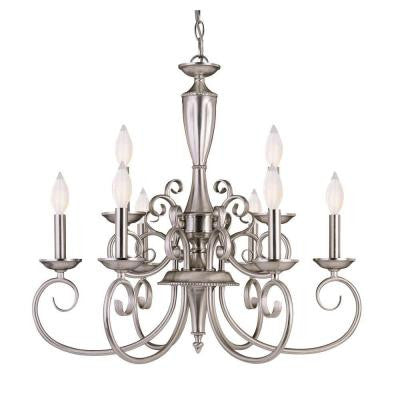 9-Light Silver Interior Chandelier